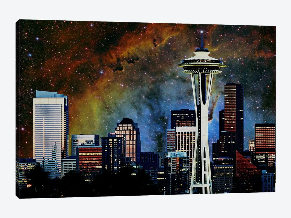 Seattle, Washington Elephant's Trunk Nebula Skyline by iCanvas 1-piece Art Print