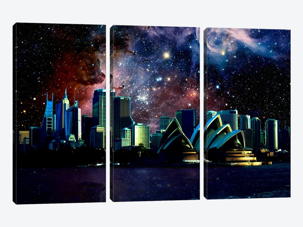 Sydney, Australia Carina Nebula Skyline by iCanvas 3-piece Canvas Art Print