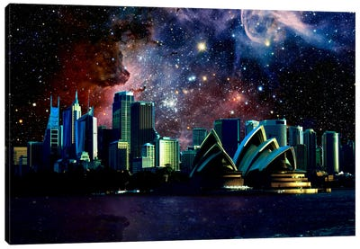 Sydney, Australia Carina Nebula Skyline Canvas Art Print