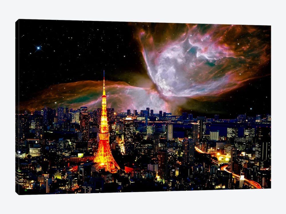Tokyo, Japan Butterfly Nebula Skyline by iCanvas 1-piece Canvas Art