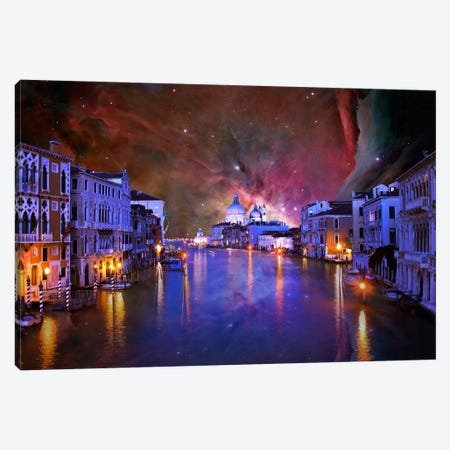 Venice, Italy Orion Nebula Skyline Canvas Print #SKY65} by 5by5collective Canvas Wall Art
