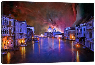 Venice, Italy Orion Nebula Skyline Canvas Art Print