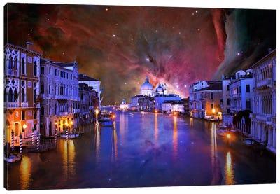 Venice, Italy Orion Nebula Skyline Canvas Art Print