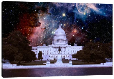 Washington, D.C. Carina Nebula Skyline Canvas Art Print