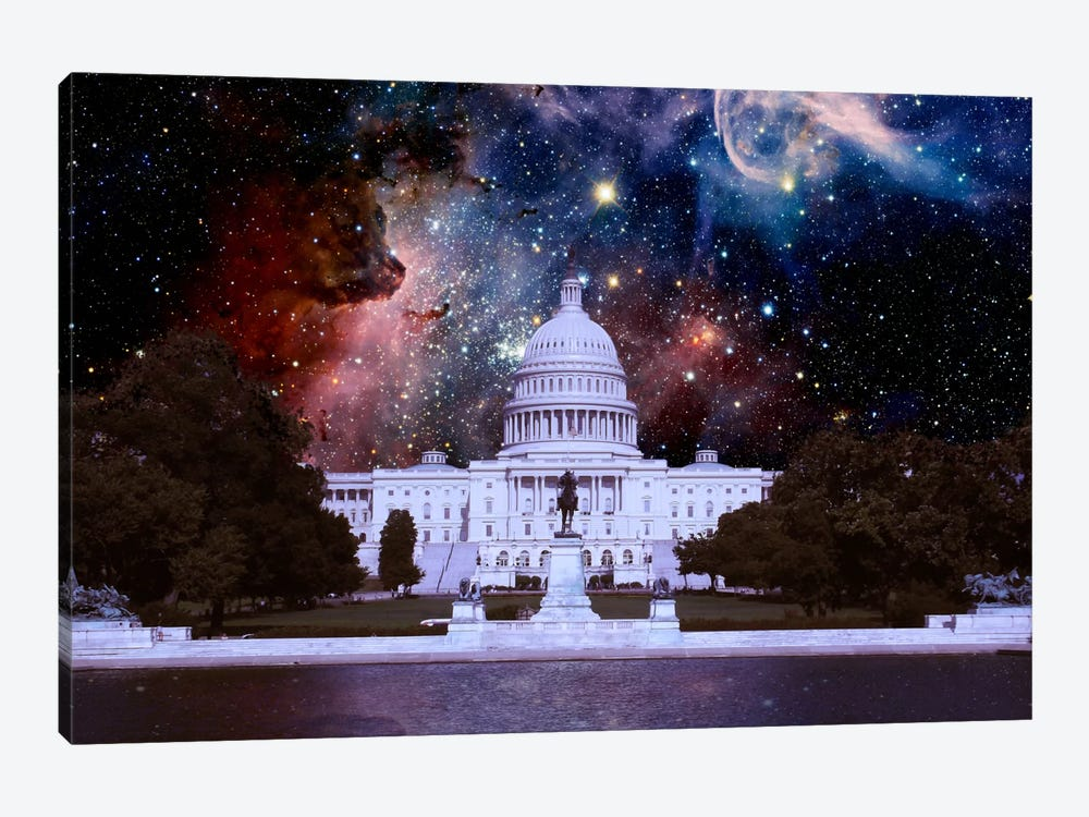 Washington, D.C. Carina Nebula Skyline by 5by5collective 1-piece Canvas Wall Art