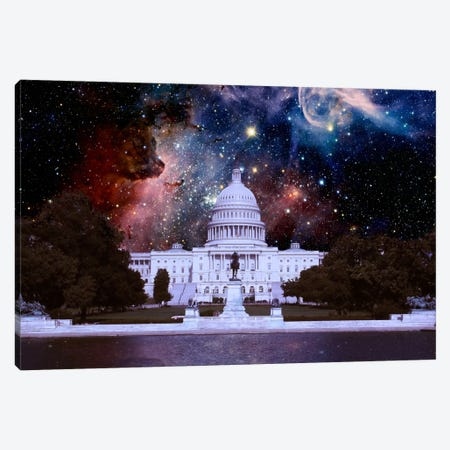 Washington, D.C. Carina Nebula Skyline Canvas Print #SKY66} by 5by5collective Canvas Wall Art