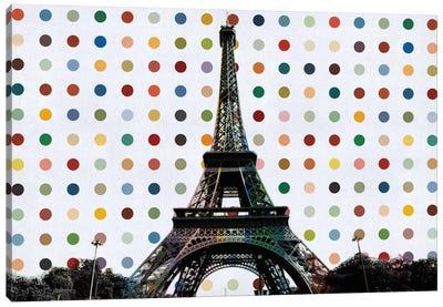 Paris, France Colorful Polka Dot Skyline Canvas Print #SKY85