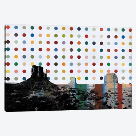 Phoenix, Arizona Colorful Polka Dot Skyline Canvas Print #SKY87} by Unknown Artist Canvas Artwork