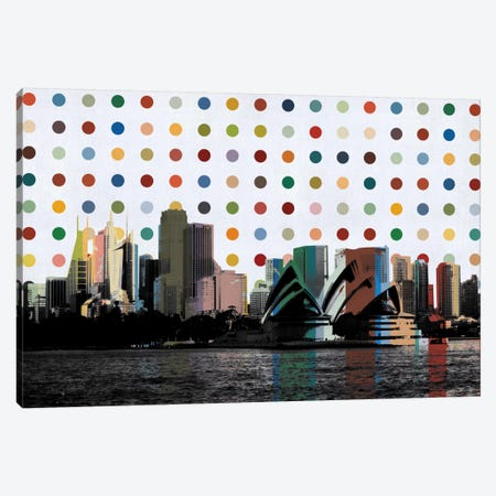 Sydney, Australia Spot Painting Canvas Print #SKY96} by Unknown Artist Art Print