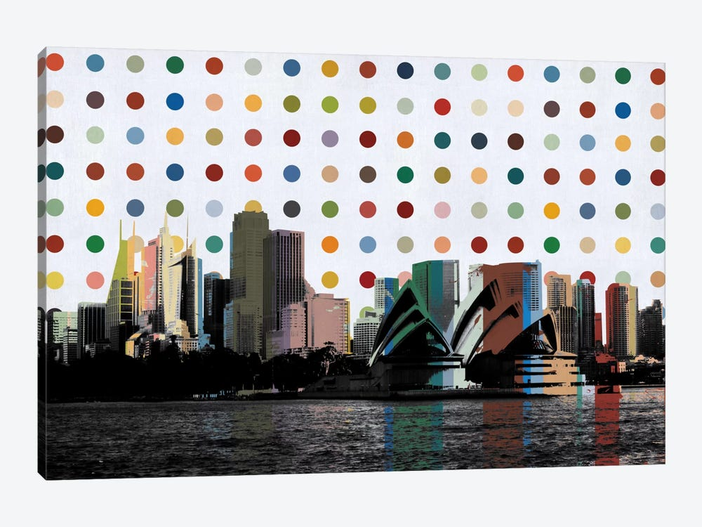 Sydney, Australia Spot Painting by iCanvas 1-piece Art Print