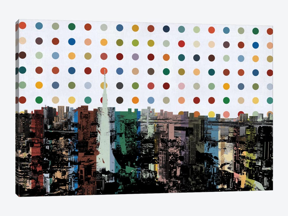 Tokyo, Japan Spot Painting by iCanvas 1-piece Canvas Art