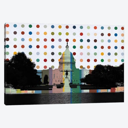 Washington, DC Spot Painting Canvas Print #SKY99} by Unknown Artist Canvas Wall Art
