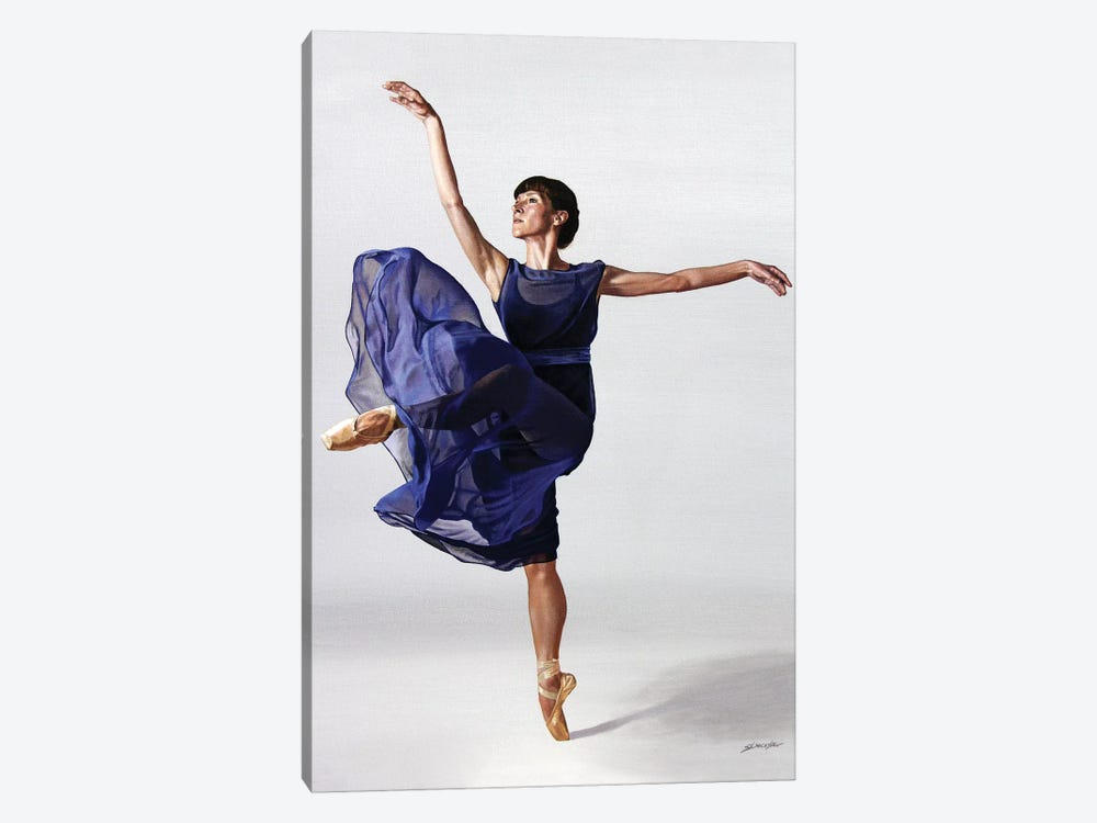 Sheer Blue by Sally Lancaster 1-piece Art Print