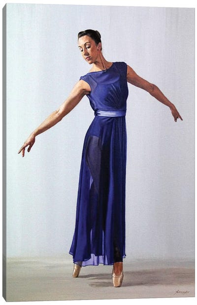 The Blue Dress Canvas Art Print
