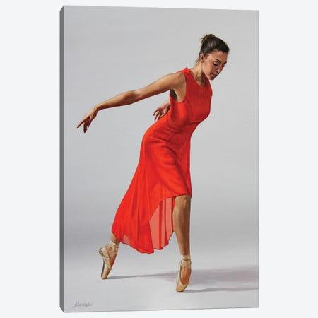The Red Dress Canvas Print #SLA26} by Sally Lancaster Canvas Art Print
