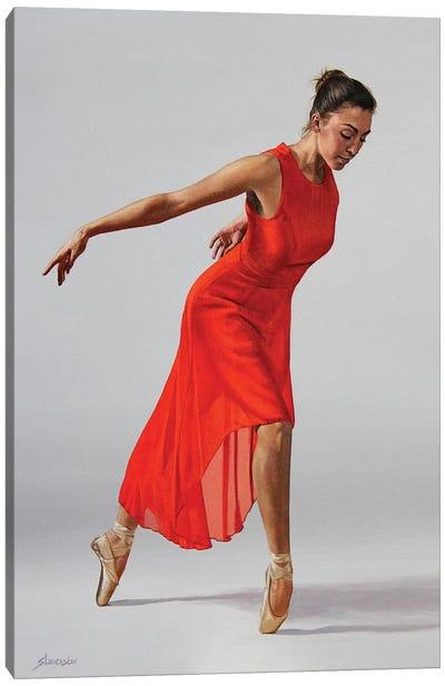 The Red Dress Canvas Art Print