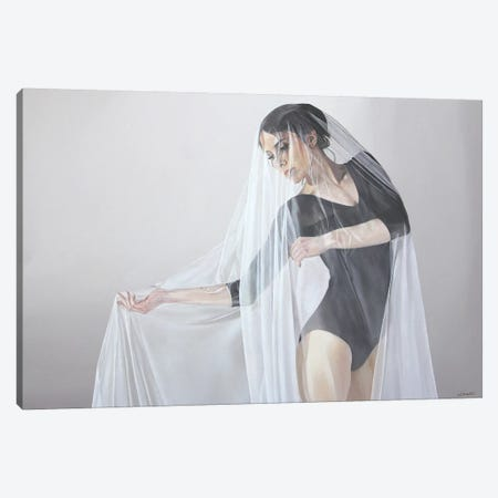 Delicate Grace Canvas Print #SLA38} by Sally Lancaster Canvas Print