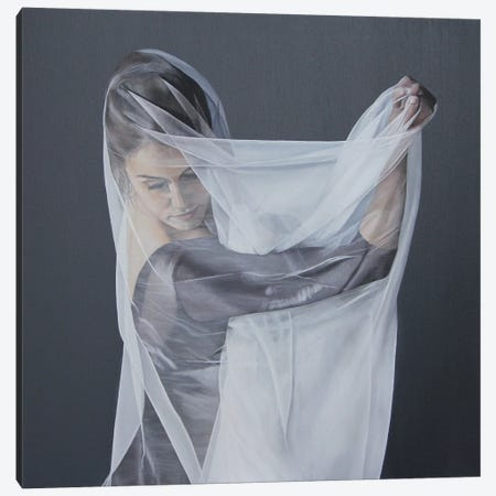 Veiled Within Canvas Print #SLA42} by Sally Lancaster Canvas Wall Art