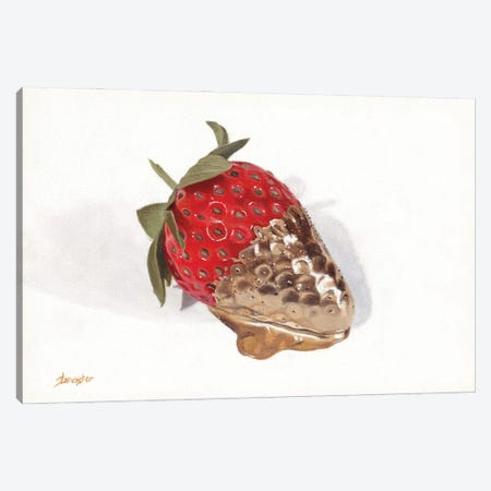 Strawberries Of Gold I Canvas Print #SLA49} by Sally Lancaster Canvas Art