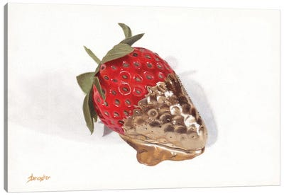 Strawberries Of Gold I Canvas Art Print