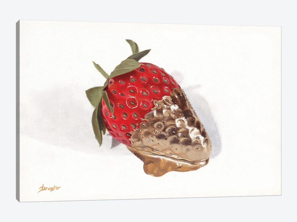 Strawberries Of Gold I by Sally Lancaster 1-piece Canvas Print