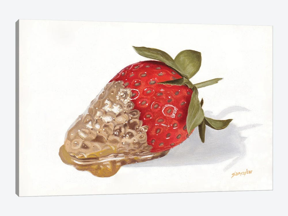 Strawberries Of Gold II by Sally Lancaster 1-piece Art Print