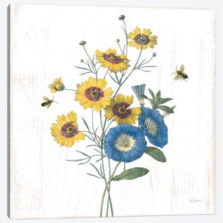 White Barn Flowers VIII Sq 3-Piece Canvas #SLB100} by Sue Schlabach Canvas Art Print