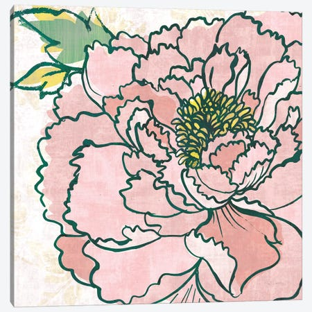 Camilles Peony Pink 3-Piece Canvas #SLB102} by Sue Schlabach Art Print