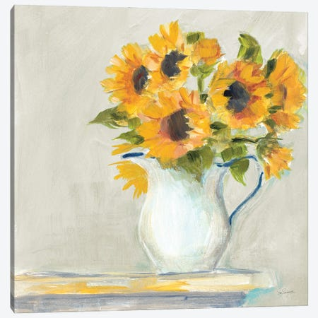 Lotties Sunflowers Canvas Print #SLB125} by Sue Schlabach Canvas Art