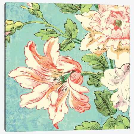 Cottage Roses VII Bright Canvas Print #SLB12} by Sue Schlabach Canvas Artwork