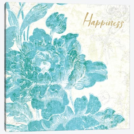 Toile Roses VI Teal Happiness Canvas Print #SLB17} by Sue Schlabach Canvas Art Print