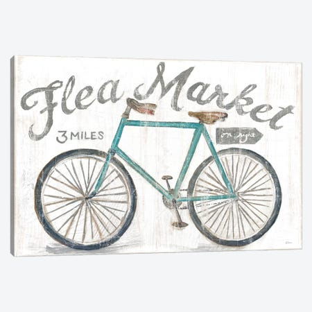 White Barn Flea Market I Canvas Print #SLB18} by Sue Schlabach Canvas Artwork