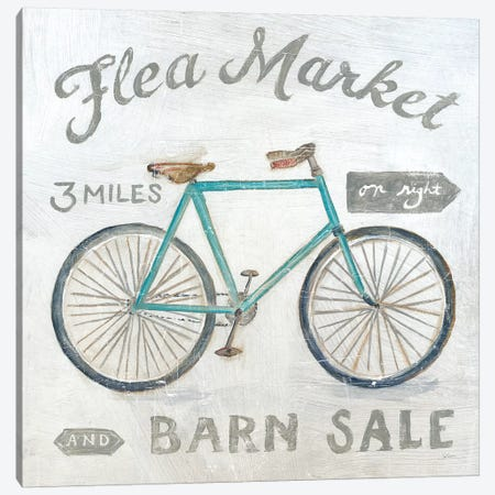 White Barn Flea Market IV Canvas Print #SLB19} by Sue Schlabach Canvas Wall Art