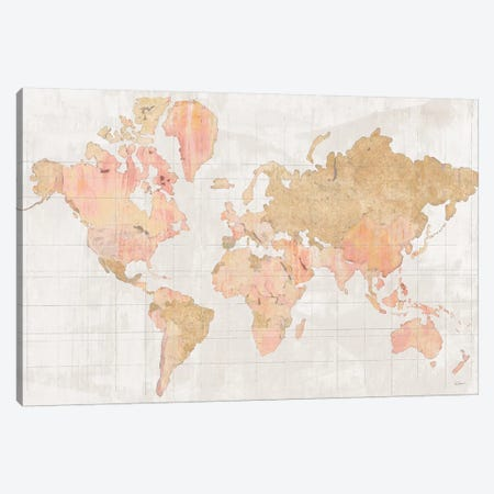 Across the World V Champagne Canvas Print #SLB1} by Sue Schlabach Canvas Wall Art