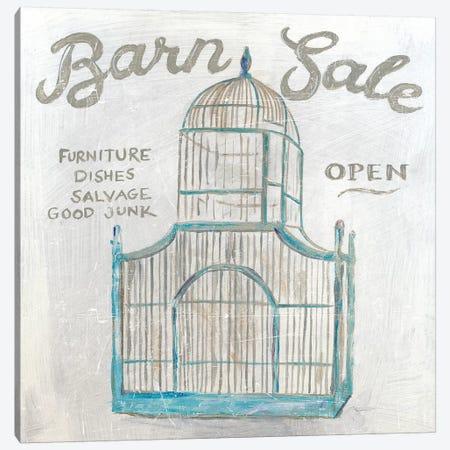White Barn Flea Market V Canvas Print #SLB20} by Sue Schlabach Canvas Print