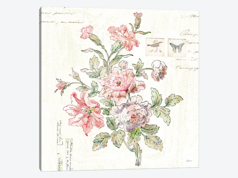Cottage Roses III by Sue Schlabach 1-piece Canvas Art Print