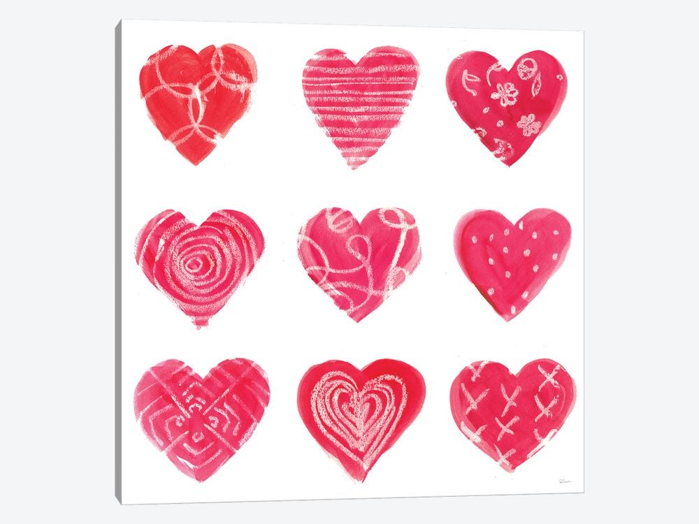 Hearts and More Hearts I by Sue Schlabach 1-piece Canvas Wall Art