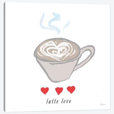 Latte Love Canvas Print #SLB27} by Sue Schlabach Canvas Art