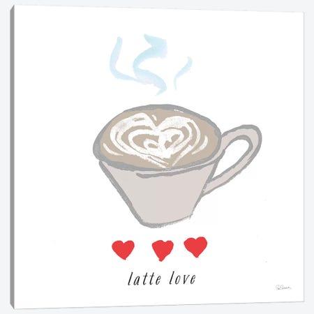 Latte Love Canvas Print #SLB27} by Sue Schlabach Canvas Art
