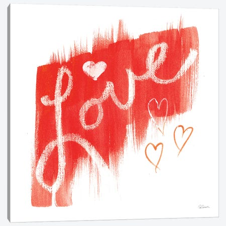 Painted Love Canvas Print #SLB28} by Sue Schlabach Canvas Print