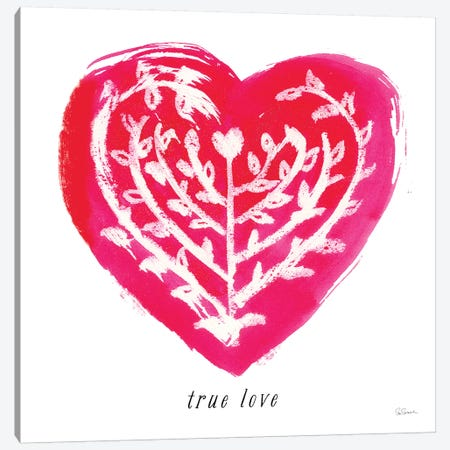 True Love Canvas Print #SLB33} by Sue Schlabach Canvas Wall Art