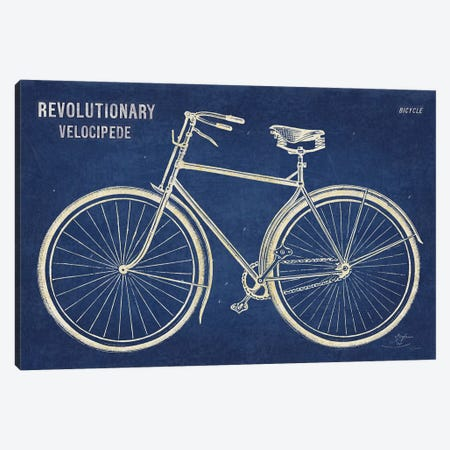 Blueprint Bicycle v2 Canvas Print #SLB35} by Sue Schlabach Canvas Print