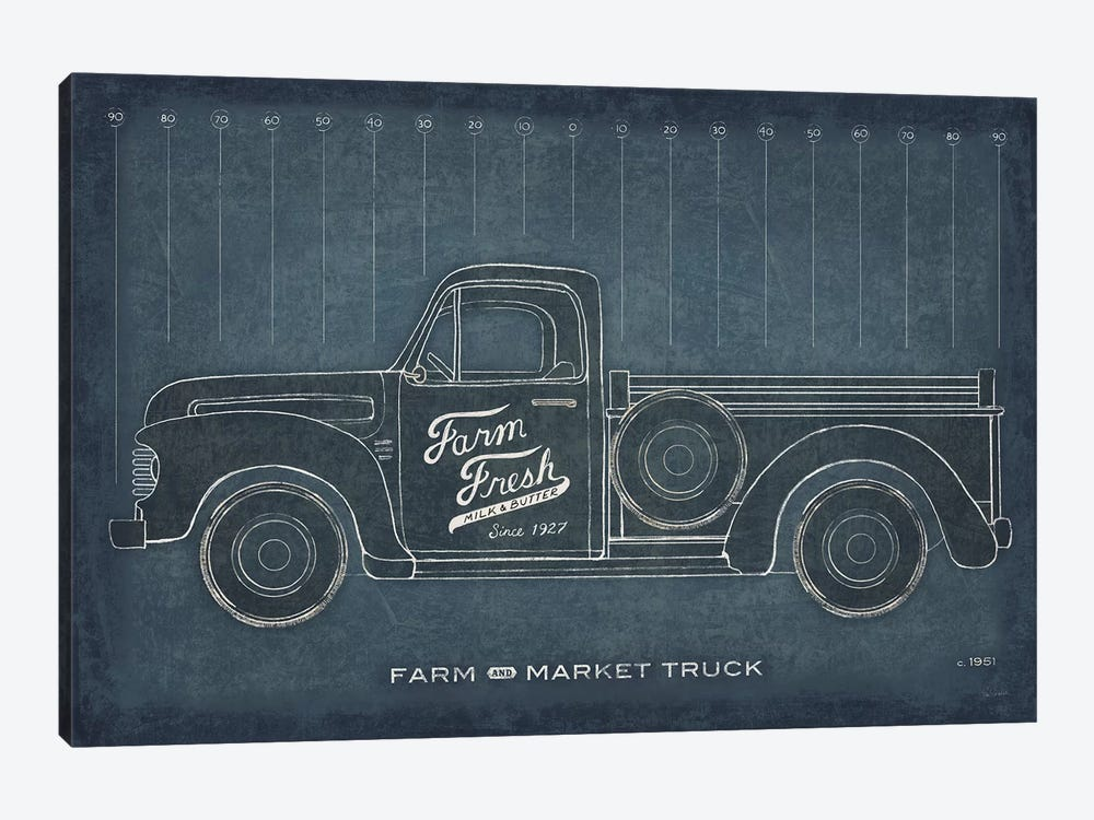 Farm Truck Blueprint by Sue Schlabach 1-piece Art Print