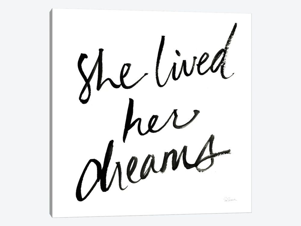 She Lived Her Dreams by Sue Schlabach 1-piece Canvas Wall Art