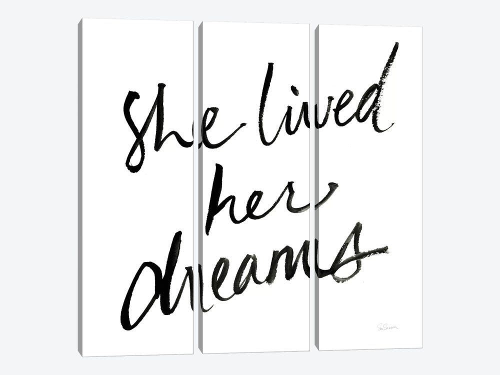 She Lived Her Dreams by Sue Schlabach 3-piece Canvas Artwork