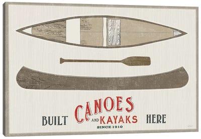 Cabin Life VII Kayak Canvas Art Print