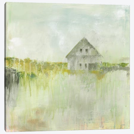 Across the Fields Neutral Canvas Print #SLB68} by Sue Schlabach Canvas Art Print