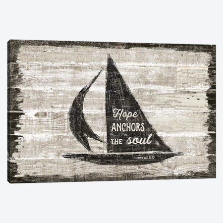 Driftwood Coast Scripture II Canvas Print #SLB86} by Sue Schlabach Canvas Wall Art