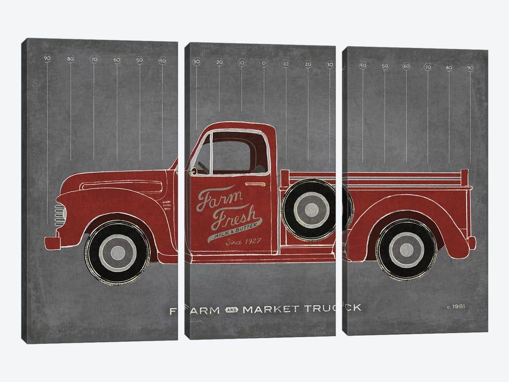 Farm Truck by Sue Schlabach 3-piece Canvas Print