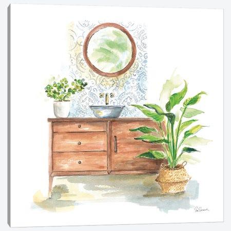 Greenery Bath I Canvas Print #SLB93} by Sue Schlabach Canvas Artwork